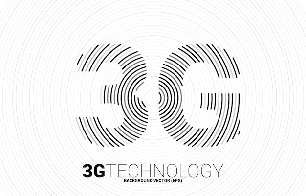 3g signaal rimpel lijn mobiel netwerk. concept voor mobiele telefoon data sim-kaart technologie.