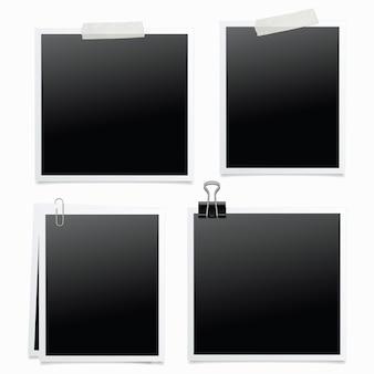 4 fotolijsten geïsoleerde illustratie