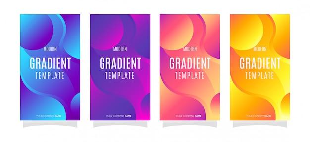 4 instagram vector abstracte ontwerpachtergrond met gradiëntkleur