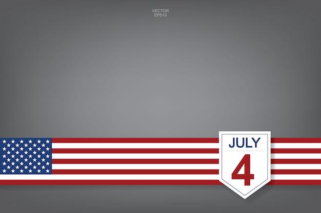 4 juli - abstract achtergrondteken en symbool voor de vs