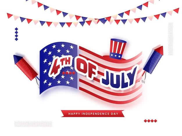 4 juli, amerikaans onafhankelijkheidsdagconcept.