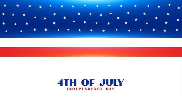4 juli amerikaanse vlagbanner voor onafhankelijkheidsdag
