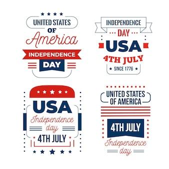 4 juli evenement plat ontwerp