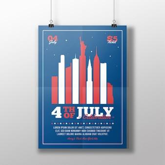 4 juli flyer