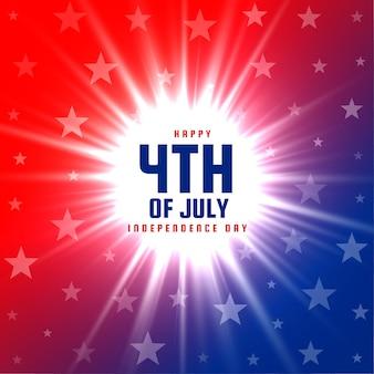 4 juli gloeiend achtergrondontwerp