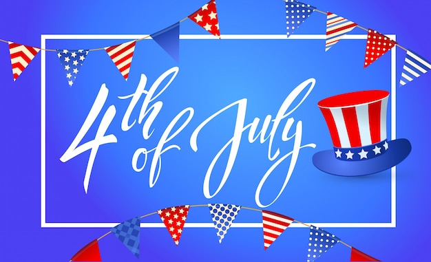 4 juli independence day van de verenigde staten van amerika feestelijk