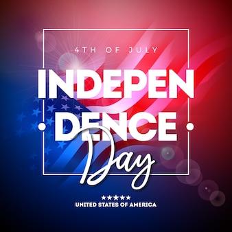4 juli independence day van de vs illustratie