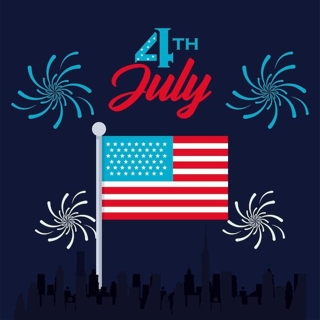 4 juli kaart