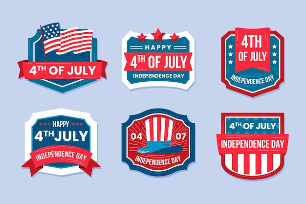 4 juli - labelverzameling onafhankelijkheidsdag