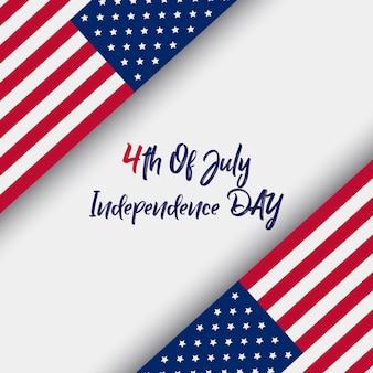 4 juli met amerikaanse vlag