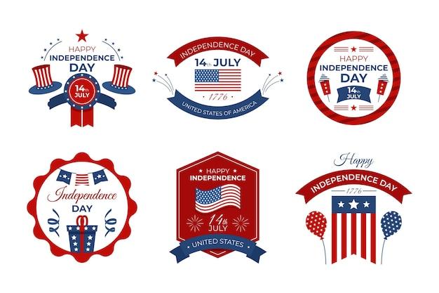 4 juli onafhankelijkheidsdag badges