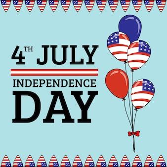 4 juli - onafhankelijkheidsdag ballonnen achtergrond