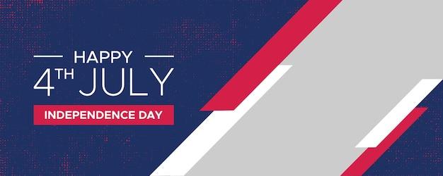 4 juli onafhankelijkheidsdag bannerontwerp