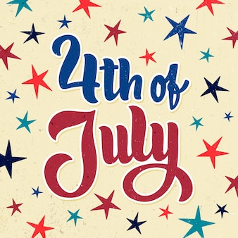 4 juli - onafhankelijkheidsdag belettering