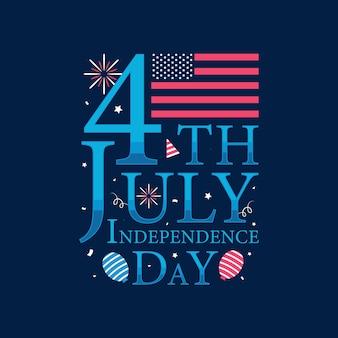 4 juli onafhankelijkheidsdag, happy independence day-belettering