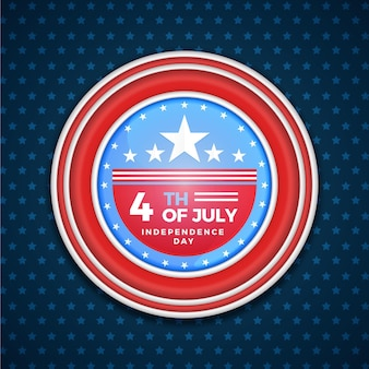 4 juli - onafhankelijkheidsdag in plat ontwerp