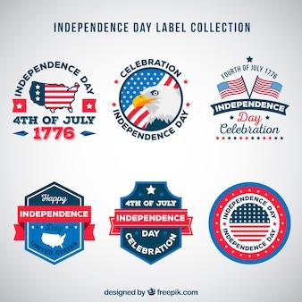 4 juli onafhankelijkheidsdag labels collectie