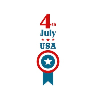 4 juli onafhankelijkheidsdag. verticale banner.