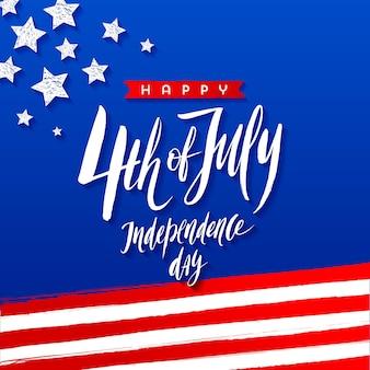 4 juli onafhankelijkheidsdag wenskaart