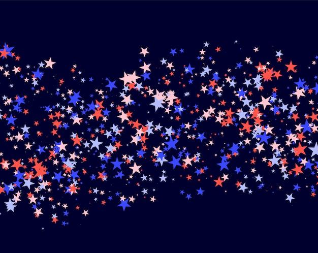4 juli patroon gemaakt van sterren