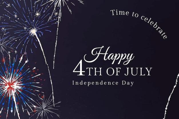 4 juli-sjabloon voor banner