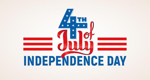 4 juli. usa onafhankelijkheidsdag belettering