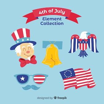 4 juli - verzameling van onafhankelijkheidsdagelementen