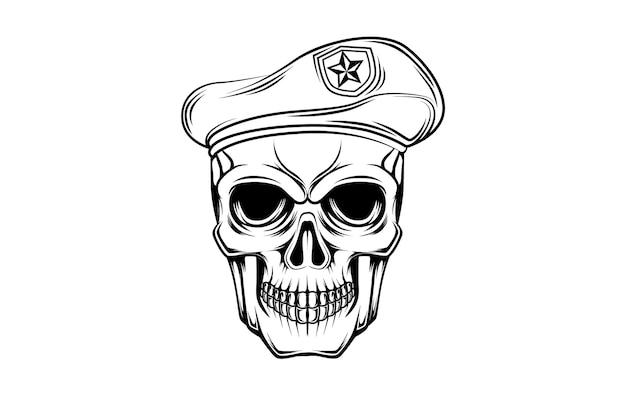 4. schedel soldaat vector