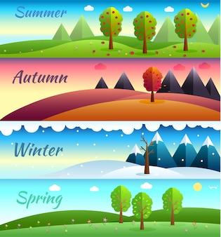 4 seizoenen banners.