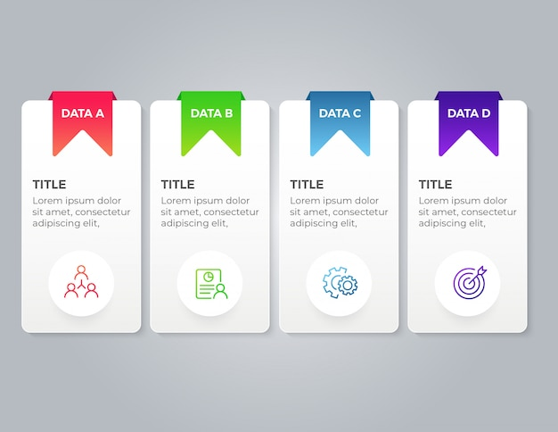 4 stap zakelijke infographic