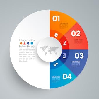 4 stappen bedrijfs infographic elementen voor de presentatie