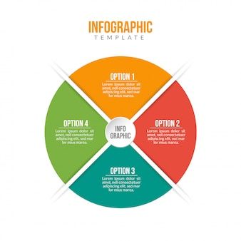 4 stappen business infographics-sjabloon