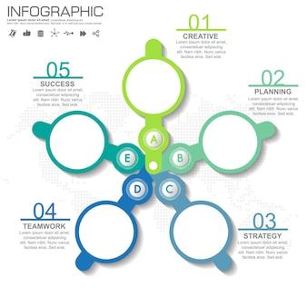 4 stappen infographic ontwerp