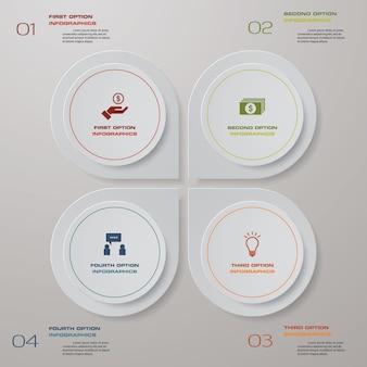 4 stappen verwerken infographicselement voor presentatie.