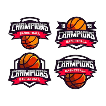 4 stel logo voor sportbasketbal in