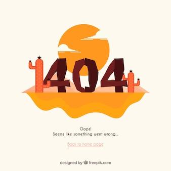 404 concept met woestijn