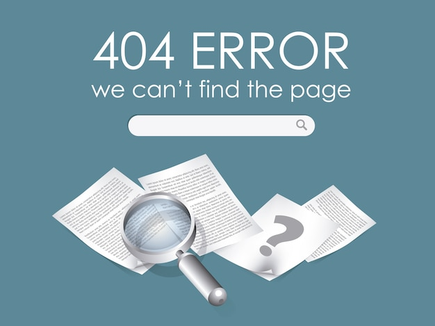 404 fout achtergrond