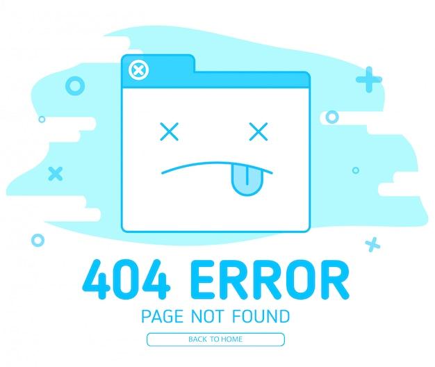 404-fout met de wedsite-fout van het pictogram