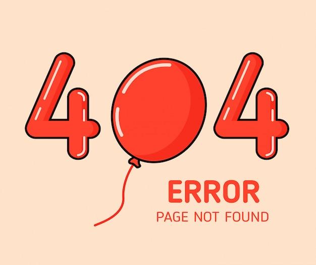 404-fout met ontwerpsjabloon voor ballonfouten voor website