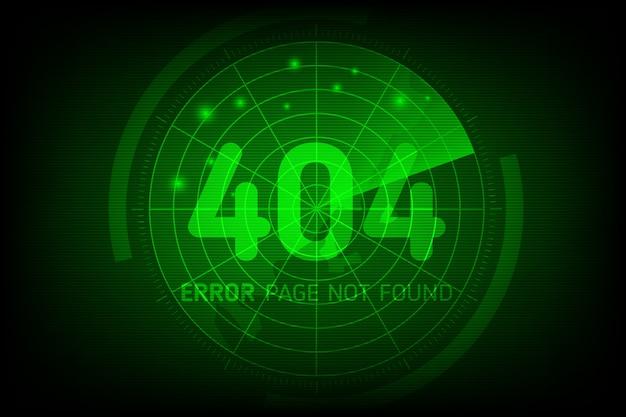 404 fout niet gevonden pagina in stijl scan radar