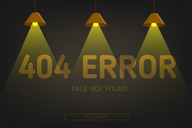 404 fout niet gevonden pagina met verlichting