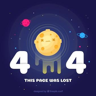 404-fout universum achtergrond