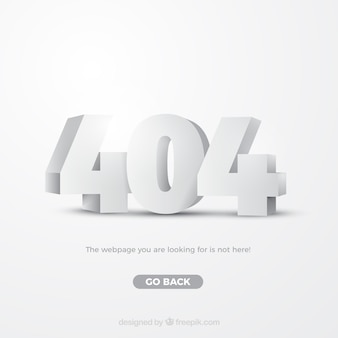 404-fout websjabloon in isometrische stijl