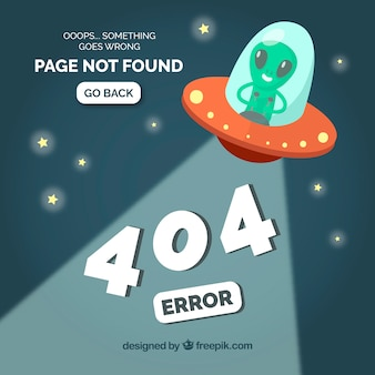 404-fout websjabloon met ovni