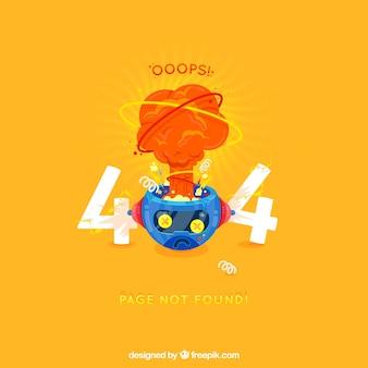 404-foutachtergrond in vlakke stijl