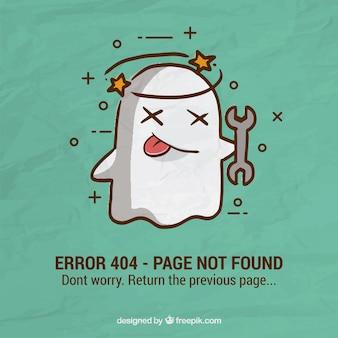 404-foutachtergrond met geest