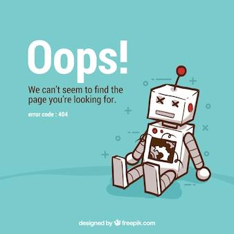 404 foutachtergrond met robot
