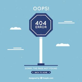 404-foutenconcept met blauw teken