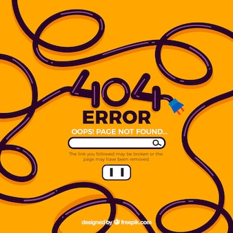 404-foutenconcept met kabel