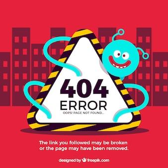 404-foutenconcept met monster en teken